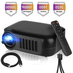 1080p Full HD Portable LED Mini Projector Home Theater Cinem