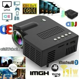 1080P Mini LED Smart Home Theater Projector  FHD 3D AV USB V