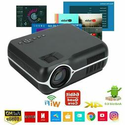 1080P WIFI Wireless LCD Projector HD Android Bluetooth Movie