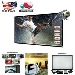 """150"""" 16:9 Wall Mounted Video Projector Projection Screen Hom"""