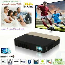 """2019 DLP 300"""" 8500 Lumens 3D 4K Home Theater Projector Andro"""