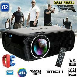 2019 Protable Full HD 1080P Mini LED Projector Home Theater