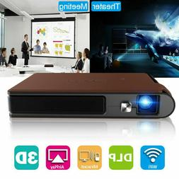 3D DLP WiFi Pocket Size Projector Home Theater Presentation