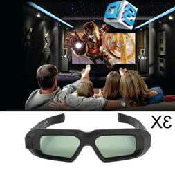 3x 3D Glasses Active Bluetooth for DLP Epson Projector Home