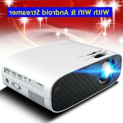 4K 3D WiFi Wireless LED Projector Android Bluetooth Full HD