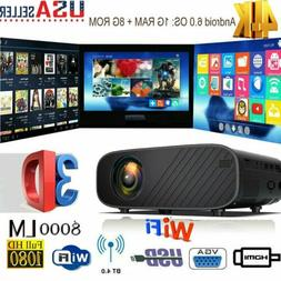 4k 3d wifi wireless led projector android