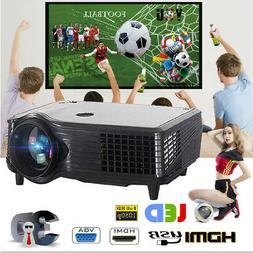 4K 7000lm 1080P HD 3D LED Projector Home Theater Cinema HDMI