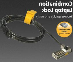 6Ft Combination Security Cable Lock for Laptops TV Monitors