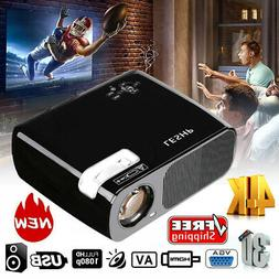 7000 Lumen 1080P Full HD 3D LED Projector LCD Home Theater V