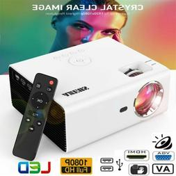 8000Lumens HD 1080P LED Video Projector Home Theater Multime