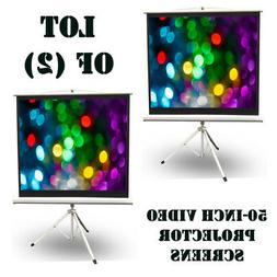 """Pyle - Pyle Pro 50"""" Projector Screen - White"""