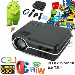 Bluetooth Wifi Wireless Small Projector Android 6.0 Smart Po