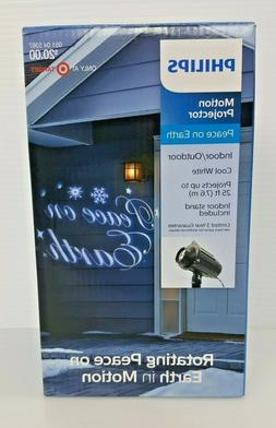 Philips Christmas LED Motion Projector Rotating Peace on Ear