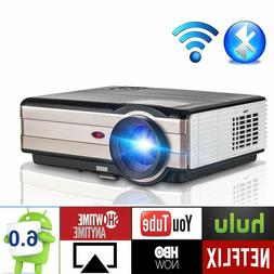 1080P HD Android Projector Home Theater Blue tooth Backyard