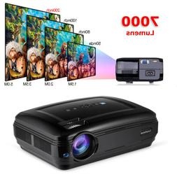Full HD LED Projector 7000 lumens Support 1080P 3D Home Thea