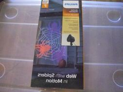 Philips Halloween LED Motion Projector Web with Spiders Cool