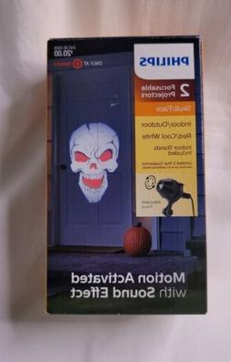Halloween Philips Skull Face Red/Cool White 2 Focus Projecto