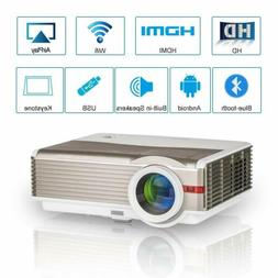 HD WiFi Blue-tooth LCD Projector Video Projectors Home Theat