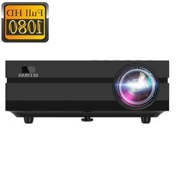Home Theater LCD Projector Portable Full HD 1080P Native Res