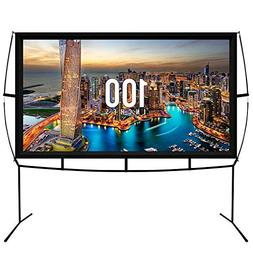 Jumbo 100 Inch 16:9 Portable Outdoor and Indoor Movie Theate
