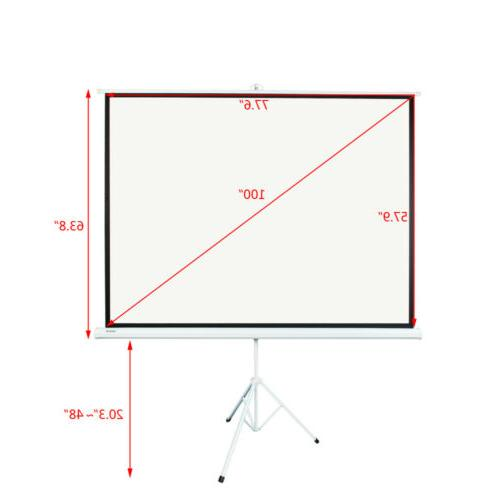 """100"""" Projector Screen Portable Indoor Outdoor with Stand"""