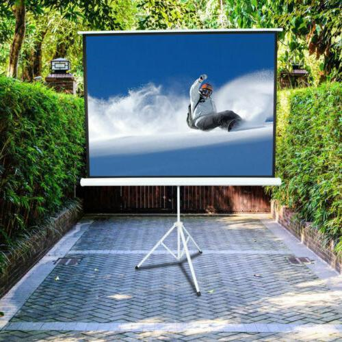 """100"""" 4:3 Screen Portable Indoor with"""