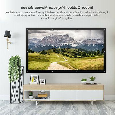 100 16:9 Projector Projection Screen Theater HD PVC T3E0