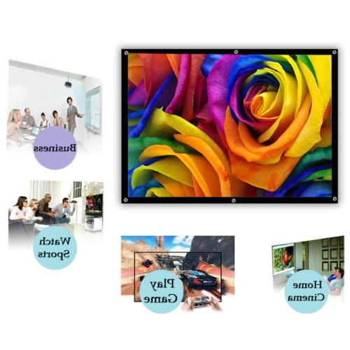 100''Inches Projector Outdoor HD for