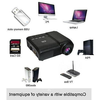1080P HD LED Projector PC TV Multimedia Game