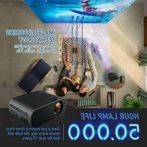 4K LED Home Theater Projector USB Video