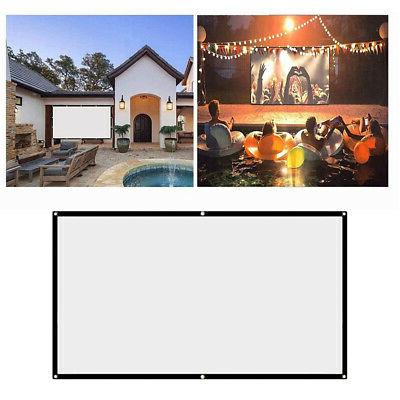 16:9 Projection Screen Home Cinema Video Projector Screens O