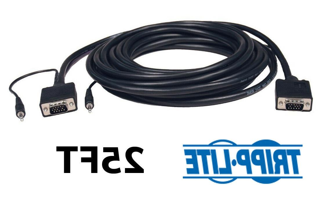 25ft vga video audio monitor cable w
