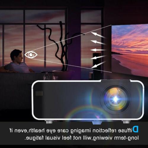 4K 1080p FHD Smart Home Theater Projector Android 3D Video Movie