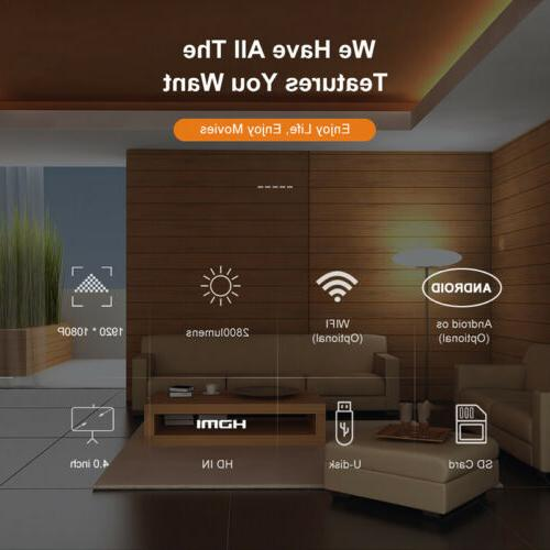 4K 1080p LED Smart Home Android 6.0 Wifi 3D Video Movie