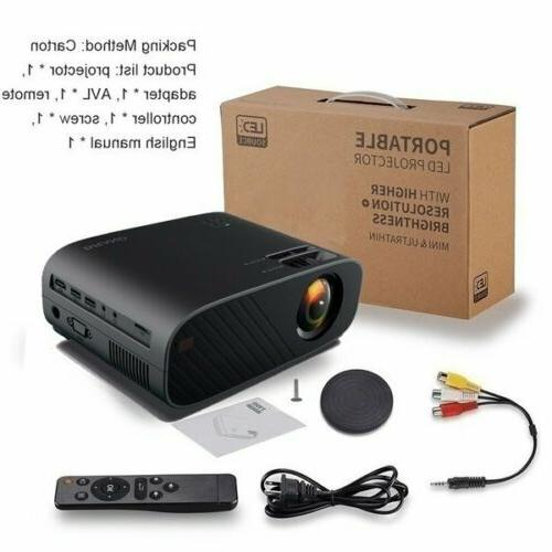 4K 1080p LED Projector Wifi Video