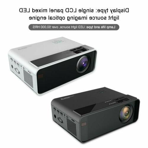 4K 3D Wireless LED Projector Android 6.0 BLuetooth Smart Theater