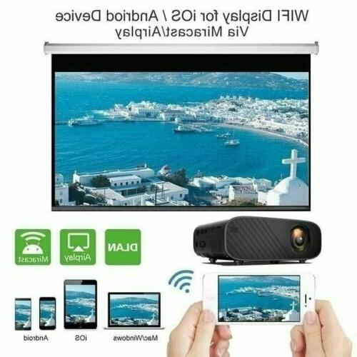 4K 3D WiFi LED Projector Android BT Home Theater