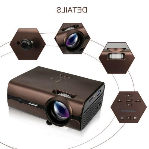 4K WiFi LED Projector Android BT Smart Home Theater 8GB