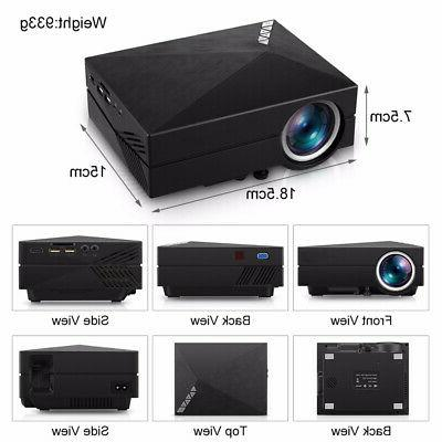 5000 1080P LCD VGA TV Home Theater Projector Cinema DK
