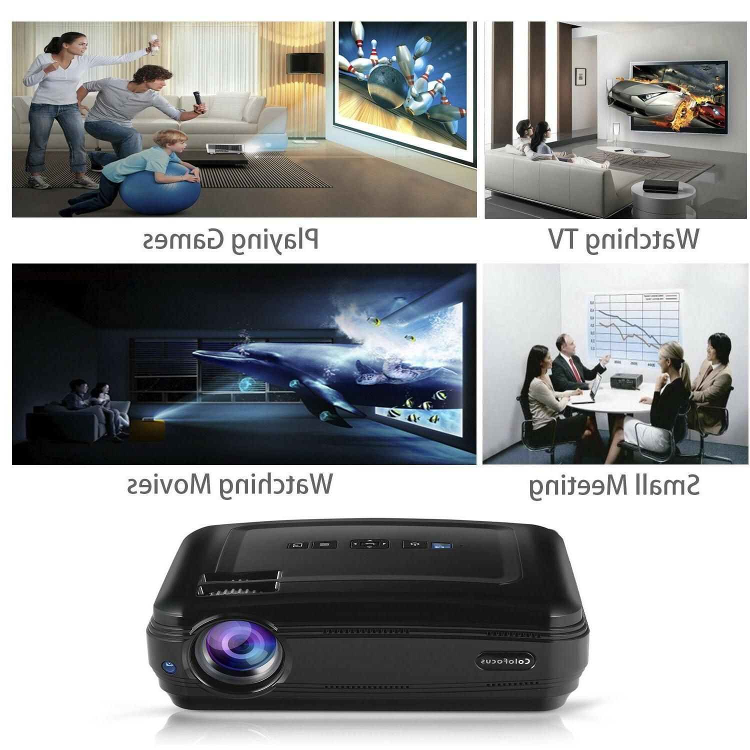 FHD Home Portable Display Video Projector Game TV Movie