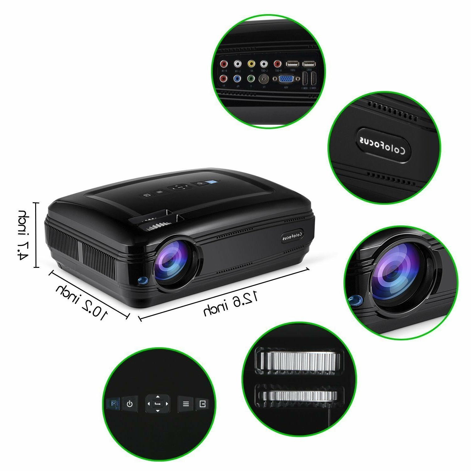 FHD HDMI Home Portable Display Projector for TV Movie