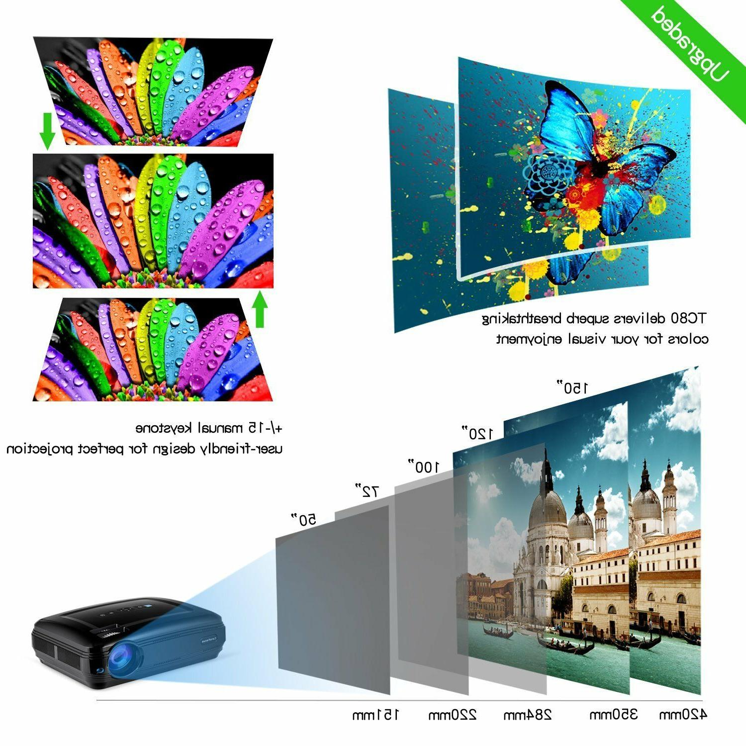 FHD Home Portable LCD Projector Movie