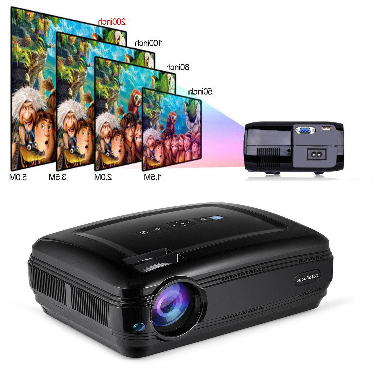 fhd hdmi home projector portable lcd display