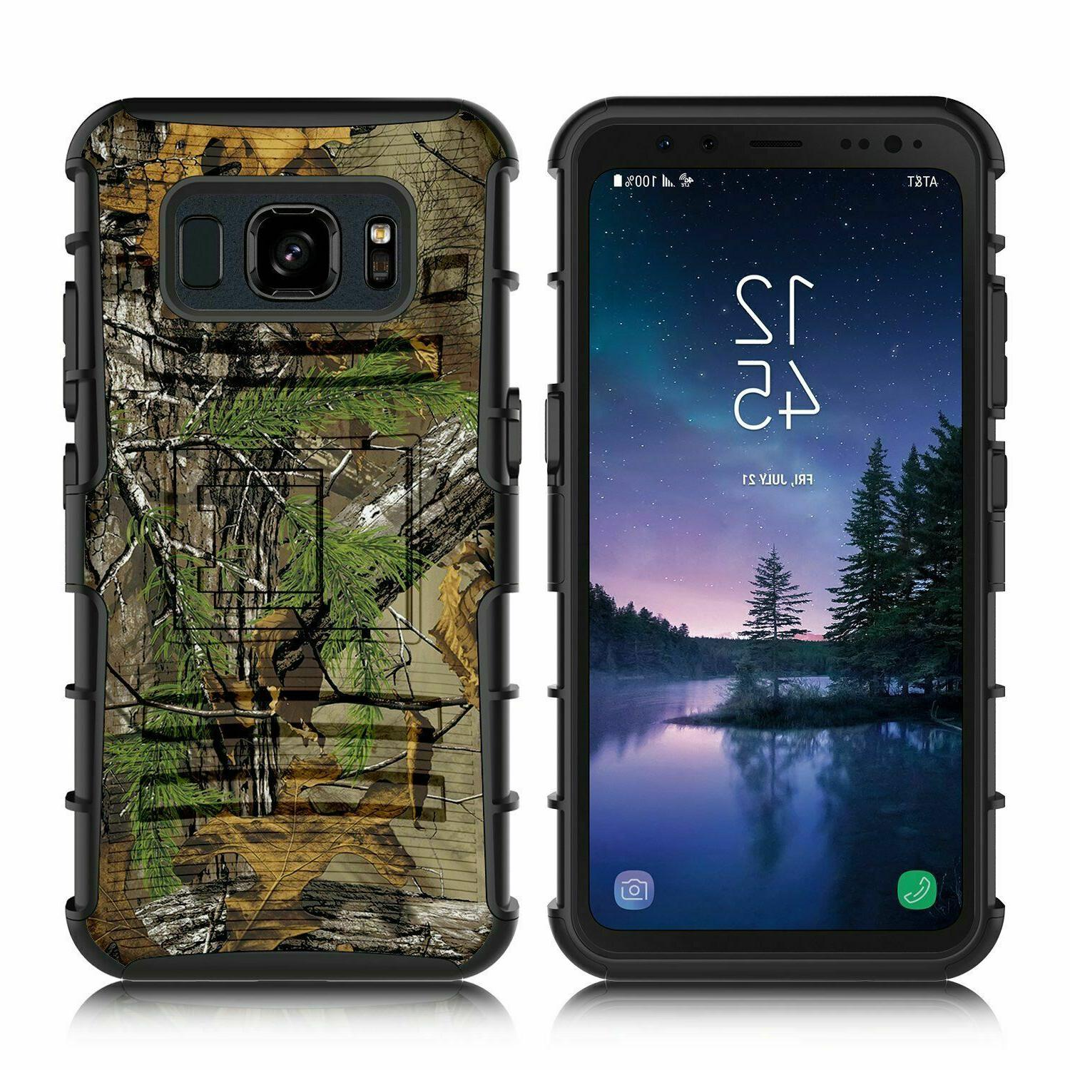 Samsung S8 Active Case Holster Dual Shockproof Swivel Clip