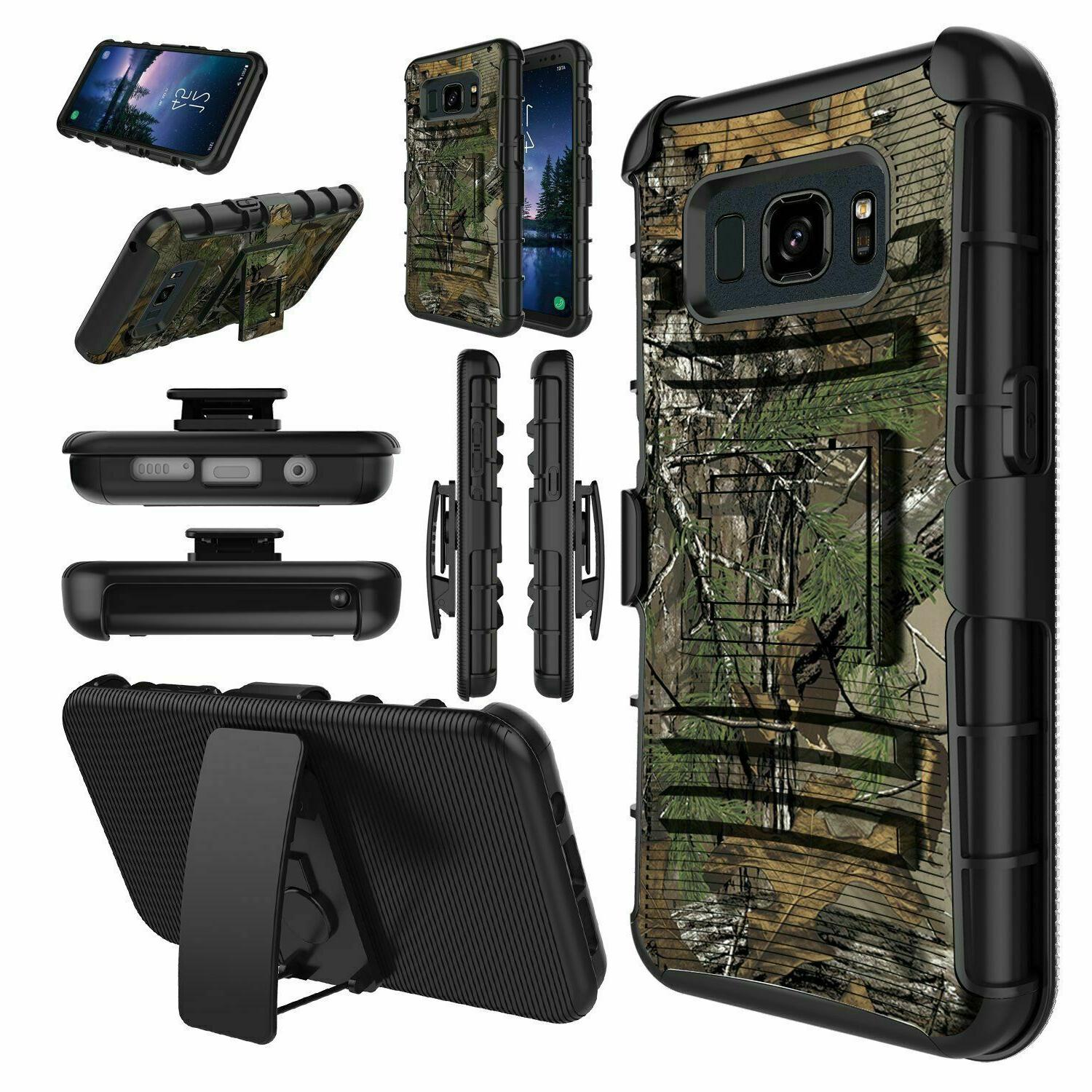 galaxy s8 active case holster dual layer