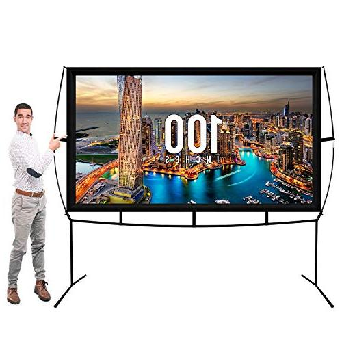 Jumbo Inch Portable Movie Theater with Stand Legs Updated