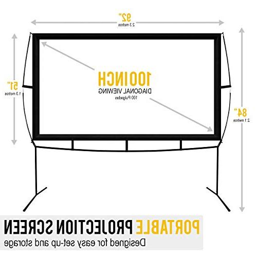 Portable Outdoor and Movie Projector with Stand Updated