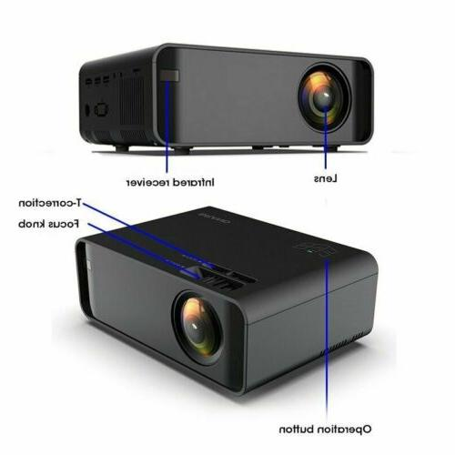 LED Smart Home Theater Projector 4K Wifi 1080p 3D Movie HDMI USB US