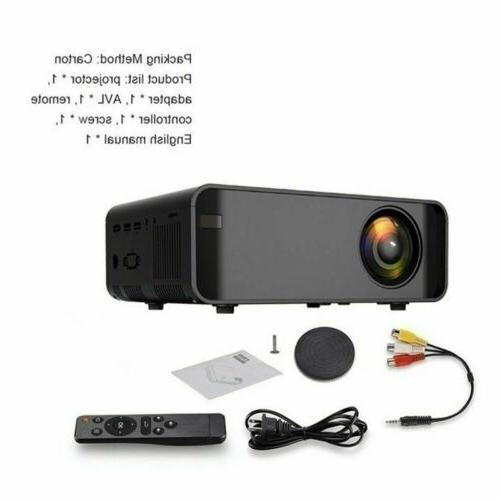 LED Smart Home Projector 4K Wifi 1080p Movie US