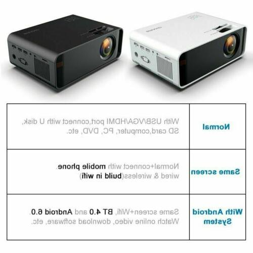 LED Smart Home Projector 1080p Movie HDMI USB